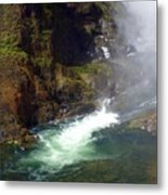 Base Of The Falls 1 Metal Print
