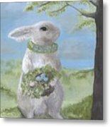 Basil Bunny Metal Print