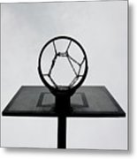 Basketball Hoop Metal Print by Christoph Hetzmannseder