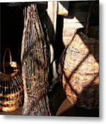 Baskets Metal Print