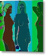 Bather 15 Metal Print
