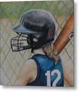 Batter Up Metal Print