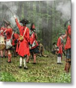 Battle For Empire French And Indian War Metal Print