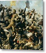 Battle Of Little Bighorn Metal Print