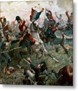 Battle Of Waterloo Metal Print by William Holmes Sullivan