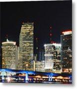Bay Front Miami Skyline Metal Print