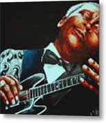 Bb King Of The Blues Metal Print by Richard Klingbeil
