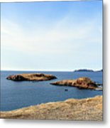 Beach And Rocky Shoreline Metal Print