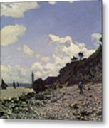 Beach At Honfleur Metal Print