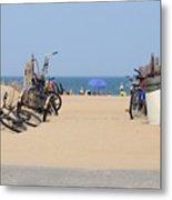 Beach Bikes 5832 Metal Print
