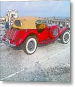 Beach Car Metal Print