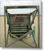 Beach Closed Metal Print