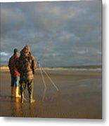 Beach Fishing Metal Print