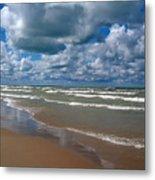 Beach Kincardine Metal Print