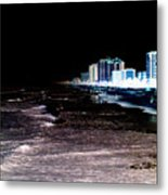 Beach Night Metal Print