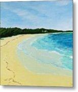 Beach On Norman's Island Metal Print