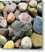 Beach Pebbles Metal Print