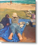Beach Picnic Metal Print
