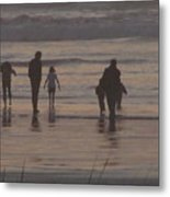 Beach Quality Time Metal Print