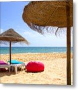 Beach Relaxing Metal Print by Carlos Caetano