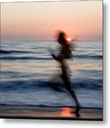 Beach Sprint Metal Print