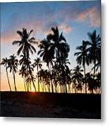 Beach Sunset Metal Print by Mike Reid