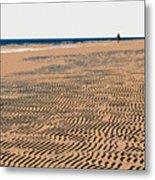 Beach Walk Metal Print