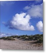 Beach With Clouds Metal Print