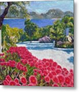 Beach With Flowers Metal Print