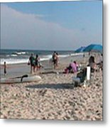 Beaching On The Atlantic Ocean Metal Print