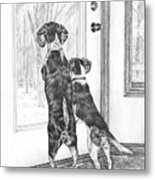 Beagle-eyed - Beagle Dog Art Print Metal Print