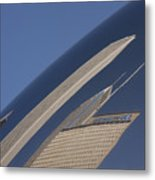Bean Reflection Metal Print