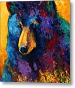 Bear Pause - Black Bear Metal Print
