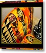 Beautiful Black Women And Water Jars Tea Cozy Metal Print by Gretchen Wrede