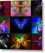 Beautiful Butterfly Collection Metal Print