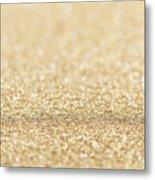 Beautiful Champagne Gold Glitter Sparkles Metal Print