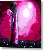 Beautiful Pink Angel Fairy By Shawna Erback Metal Print
