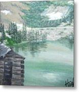 Beautiful Water Cabin Metal Print