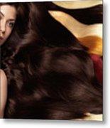 Beautiful Woman With Hair Extensions Metal Print by Oleksiy Maksymenko