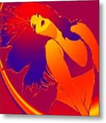Beauty Is A Rainbow Red Metal Print