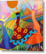 Beauty Through Her Seasons Metal Print