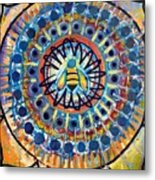 Bee Peace Metal Print