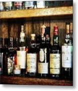 Behind The Bar Metal Print by Cathie Tyler