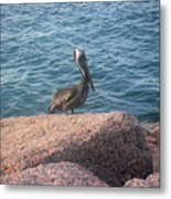 Being One With The Gulf - Anticipating Metal Print
