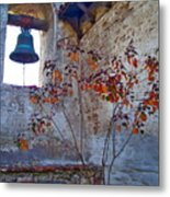 Bell Wall And Eastern Wall Of Serra Chapel In Sacred Garden Mission San Juan Capistrano California Metal Print