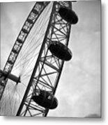 Below London's Eye Bw Metal Print by Kamil Swiatek