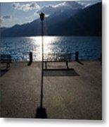 Bench And Street Lamp Metal Print by Mats Silvan