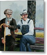 Bench Warmers Metal Print