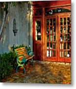 Benched In Fairhope Alabama Metal Print