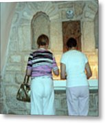 Bethlehem - Milk Grotto Church Lighting Candles Metal Print